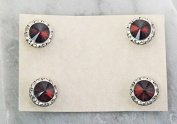 Finishing Touch Magnetic Tack Pin - Siam Red Stone - Silver Finish