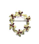 Michael Michaud Barberry Wreath Pin