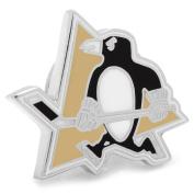 NHL Mens Silver-Tone Metal Pittsburgh Penguins Hockey Sports Fan Suit Lapel Pin