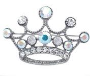 Princess Queen Royal Crown Tiara Brooch Pin Women Ladies Fashion Jewellery