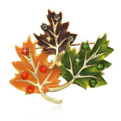 cocojewelry Fall Maple Leaves Brooch Pin Necklace Pendant Thanksgiving Jewellery