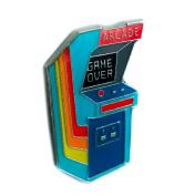 Classic 80's Arcade Game Lapel Pin Alternative Clothing Game Over Nostalgia