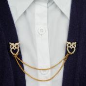 Evelots Owl Sweater, Shawl, Cardigan Clip Pin, Jewellery, Goldtoned