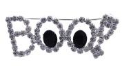 cocojewelry Cute Ghost Eye Boo Word Letter Engraved Brooch Pin Halloween Jewellery
