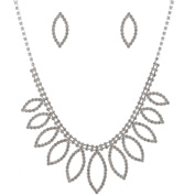Fashion Jewellery Set Silver Plating Necklace Dangle Earrings Set
