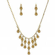 Fashion Jewellery Set Gold Plating Light Colorado Topaz Necklace Earrings Set
