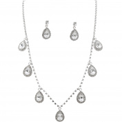 Fashion Jewellery Set Silver Plating Necklace Earrings Set
