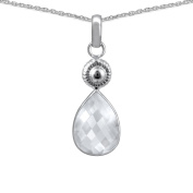 Orchid Jewellery Mfg Inc Orchid Jewellery 925 Sterling Silver 6.40ct TGW Genuine WhiteTopaz Necklace
