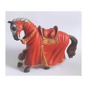 "Bullyland 80768 Figure ""Figurine World - Tournament horse"" in Red"