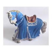 "Bullyland 80769 Figure ""Figurine World - Tournament horse"" in Blue"