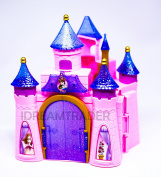 Girls Princess Musical Castle Pretend to Play Musical Castle Pink Castle with Light & Music , Prince & Princess figure & Accessories- Battery Operated- Xmas Special Toy