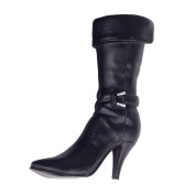 Sharplace 1:6 Female High Heels Mid Boots Accessories for 30cm Action Figure Toy Black