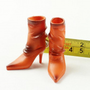 Sharplace Orange 1/6 Scale High-heel Boots Shoes Model for 30cm Female Hot Toys Figure