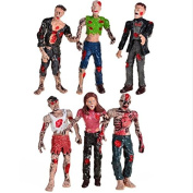 Movie Characters Action Zombies Figures Set Kids Toy Play 6Pcs