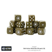 Warlord Games, Allied Star D6 Bolt Action (16) Dice
