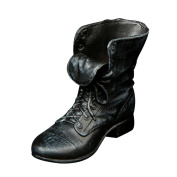 MagiDeal 1/6 Black Rubber Made Leather Shoes Ankle Boots For 30cm Male Action Figure Model