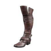 MagiDeal 1/6 Brown Rubber Made Leather Boots Long Shoes For 30cm Male Action Figure
