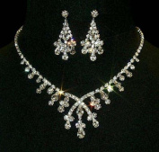 #12877 - Crossover Pear Necklace and Earring Set