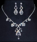 #14427 - Gated Pear Necklace Set