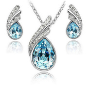 Beautiful Womens Necklace and Earrings Water Drop Jewellery Set