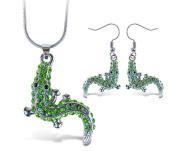 Sparkling Necklace Sparkling Alligator Necklace and Earrings Set