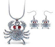 Sparkling Necklace Sparkling Crab Necklace and Earrings Set