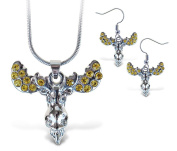 Sparkling Necklace Sparkling Moose Necklace and Earrings Set