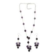 Pearlz Ocean Amethyst Beaded Necklace Set Fashion Jewellery for Women