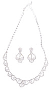 Shimmering Necklace And Earring Set For Formal Occasions