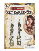 Steampunk Key Costume Jewellery Earrings
