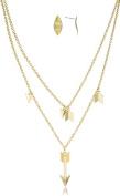 Arrow Pendant Link Necklace with Earrings Jewellery Set