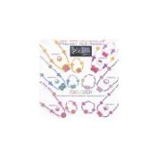 Jewellery Set-Cross/Butterfly-Elastic-Orange-Fimo