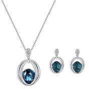 LAAT Women's Necklace+Earrings Lady Jewellery Crystal Pendant Necklace Creative Gift for Women
