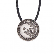 YNuth Viking Rune Norse Wolf Head Pendant Retro Style Necklace for Men