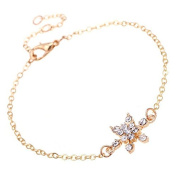 Wicemoon Bracelet Chain Gift Snowflake Diamond Bracelet Chain Silver Jewellery Hand Chain Pendants Decoration