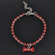 Kelaina Cute Bone Pendant Pet Dog Puppy Necklace Collar