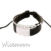Wicemoon Retro Knitted Cowhide Hand Chain Bracelet Female Trinket Decorated Hand Ornaments Chain Hand Bracelet Accessories