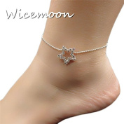 Wicemoon Pentagram Stars Anklet Chain Female Twist Interlaced Foot Jewellery Simple Anklet Accessories