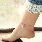 Wicemoon Bells Silver Anklet Female Trinket Foot Decorated Foot Ornaments Anklet Chain Female Twist Interlaced Foot Jewellery Simple Anklet Accessories