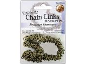 Dazzle-It Chain Link Bracelet 18cm Brass Oxide w/JumpRin 74201200