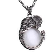 bismarckbeer Women Sweater Chain Crystal Faux Pearl Necklace Pendant Long Jewellery Decoration