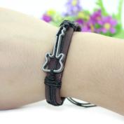Kelaina Special Handmade PU Leather Rope Weave Guitar PU Leather Bracelet