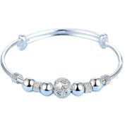 Scrox Women's Jewellery Bangle Lucky Lantern Design Adjustable Hand Chain with Beads Girls Jewellery