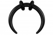 14g 1cm Surgical Steel Black IP Plated Septum Taper Ring