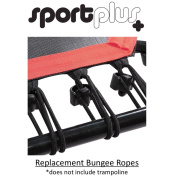 SportPlus 36-Piece Bungee Rope Set Incl. Mounting Clip for Fitness trampoline – One Size