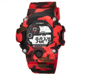 Uhat® Waterproof Camouflage Electronic Multi Functional Watch LED Display Watch