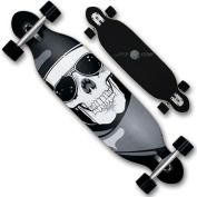 XQ Max Unisex Jack Reaper Long Board, Black/White, 100cm