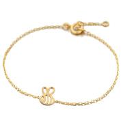Tata Gisele© Children's Bracelet in Gold Plated Bee Design – 16 cm