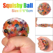 SamMoSon Spongy Rainbow Ball Toy Squeeze Soft Toy Squishy Toy Stress Relief Ball For Fun