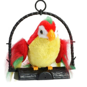 Recording Toys, SHOBDW 1PC Waving Wings Talking Talk Parrot Imitates & Repeats What You Say Gift Funny Prank Toy Kids Gifts
